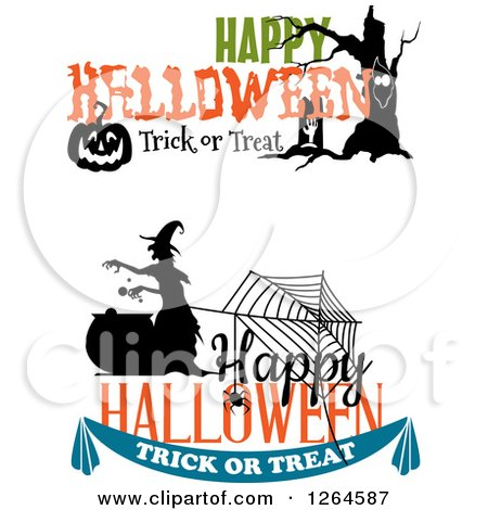 Clipart of Halloween Designs - Royalty Free Vector Illustration by Vector Tradition SM