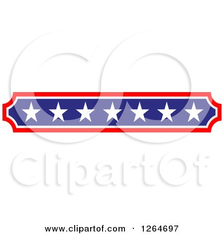 Clipart of a Vertical Patriotic American Stars Border - Royalty Free Vector Illustration by Vector Tradition SM