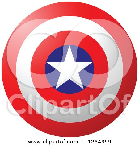 Clipart of a Patriotic American Stars and Stripes Target - Royalty Free Vector Illustration by Vector Tradition SM