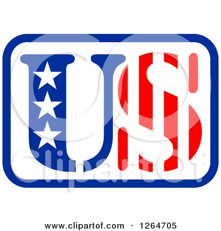 Clipart of a Patriotic American Stars and Stripes US Design - Royalty Free Vector Illustration by Vector Tradition SM