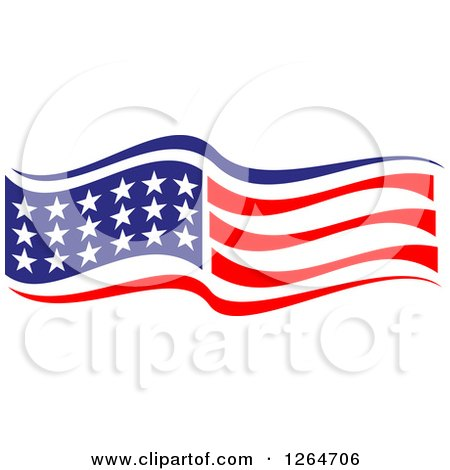 Clipart of a Patriotic American Stars and Stripes Flag - Royalty Free Vector Illustration by Vector Tradition SM