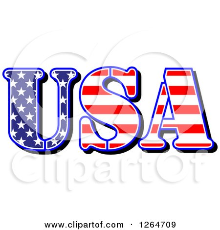Clipart of a Patriotic American Stars and Stripes USA Design - Royalty Free Vector Illustration by Vector Tradition SM