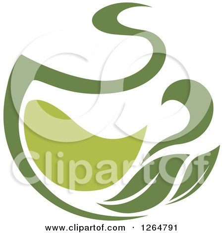 Clipart of a Green Tea Pot - Royalty Free Vector Illustration by Vector Tradition SM