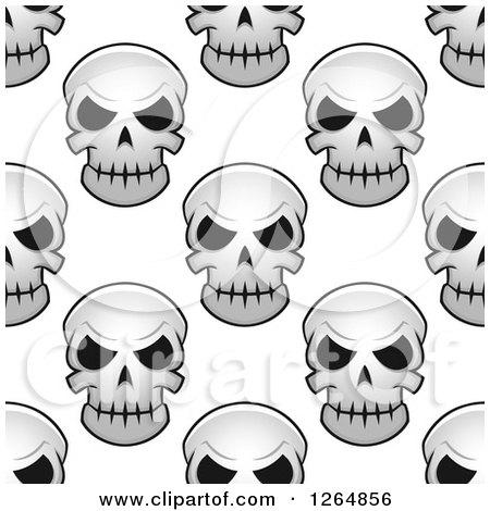 Seamless Background Pattern of Monster Skulls Posters, Art Prints
