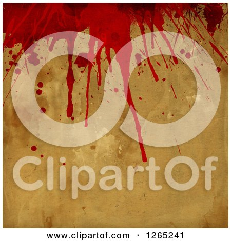 Clipart of a Halloween Horror Background of Blood Splatters - Royalty Free Illustration by KJ Pargeter