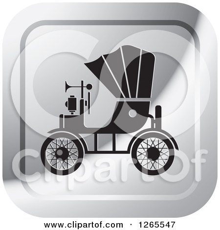 1265547-Clipart-Of-A-Silver-And-Black-Vintage-Antique-Car-With-A-Horn-Icon-Royalty-Free-Vector-Illustration.jpg