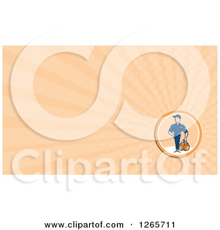 Clipart of a Male Paramedic Business Card Design - Royalty Free Illustration by patrimonio