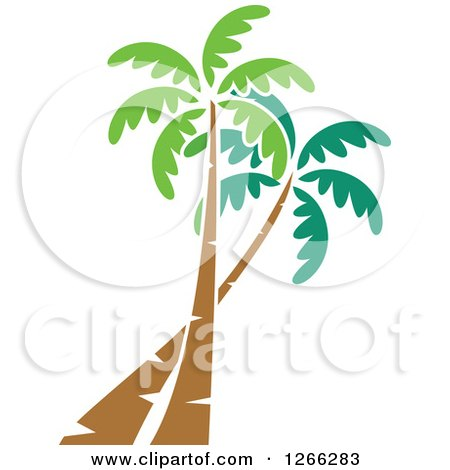 Clipart of Palm Trees - Royalty Free Vector Illustration by BNP Design Studio