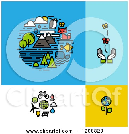 Clipart of Ecology Designs - Royalty Free Vector Illustration by elena