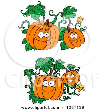 Clipart of Halloween Character Pumpkin Vines - Royalty ...