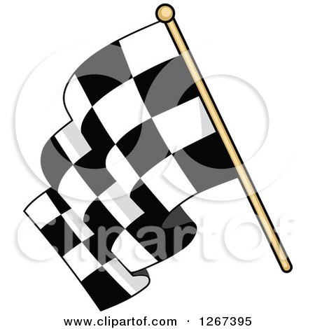 Clipart of a Checkered Racing Flag - Royalty Free Vector Illustration by Vector Tradition SM