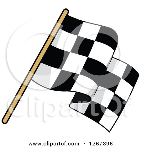 Clipart of a Checkered Racing Flag 2 - Royalty Free Vector Illustration by Vector Tradition SM
