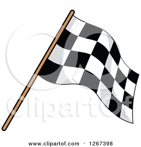 Clipart of a Checkered Racing Flag 4 - Royalty Free Vector Illustration by Vector Tradition SM