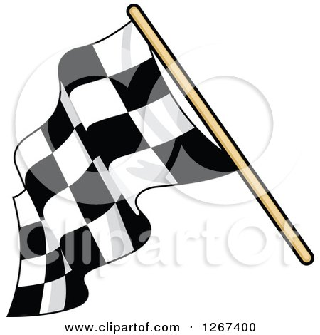 Clipart of a Checkered Racing Flag 5 - Royalty Free Vector Illustration by Vector Tradition SM