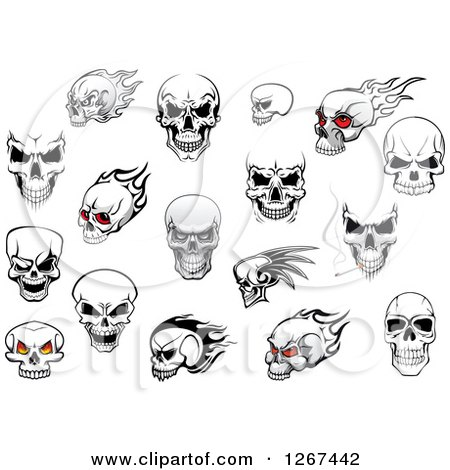 Human Skull Designs Posters, Art Prints