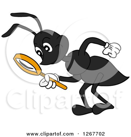 Black Ants Clipart Clipart of a Black Ant Bending
