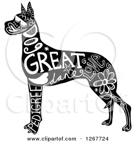 Royalty Free Rf Great Dane Clipart Illustrations