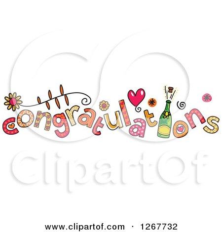 Clipart of Colorful Congratulations Text - Royalty Free Vector Illustration by Prawny