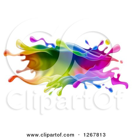 Clipart of a Colorful Paint Splash - Royalty Free Vector Illustration by AtStockIllustration