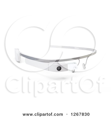 Clipart of 3d Google Glass Eyewear on White - Royalty Free Illustration by Mopic