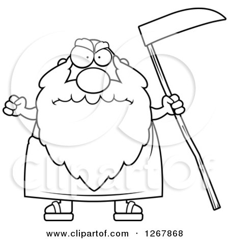 Royalty-Free (RF) Clipart Illustration of an Old Man, Father Time ...