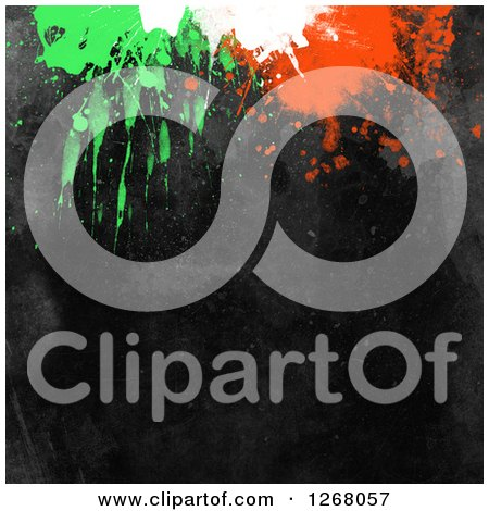 Clipart of a Black Background with Paint Splatters - Royalty Free Illustration by KJ Pargeter