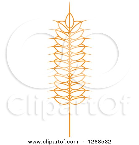 Clipart of a Wheat Stalk 5 - Royalty Free Vector Illustration by Vector Tradition SM