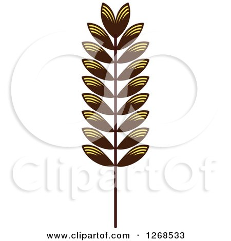 Clipart of a Wheat Stalk 4 - Royalty Free Vector Illustration by Vector Tradition SM