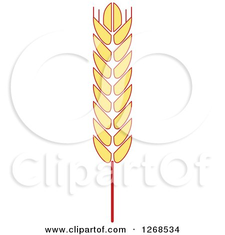 Clipart of a Wheat Stalk 3 - Royalty Free Vector Illustration by Vector Tradition SM