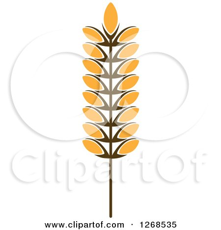 Clipart of a Wheat Stalk 7 - Royalty Free Vector Illustration by Vector Tradition SM