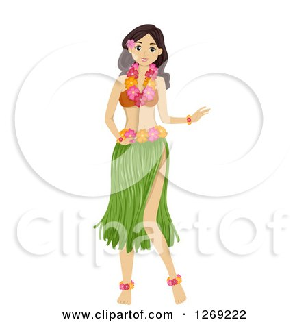 Teen Girl in a Hula Dancer Costume Posters, Art Prints