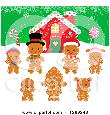 Gingerbread House Cartoon Gingerbread House With