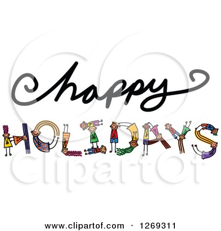 Royalty-Free (RF) Clipart of Happy Holidays, Illustrations, Vector ...