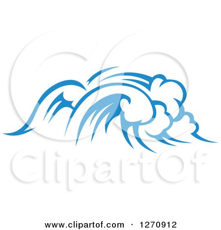 Clipart of a Blue Ocean Surf Waves 26 - Royalty Free Vector Illustration by Vector Tradition SM