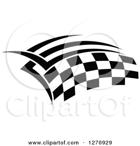 Clipart of a Black and White Tribal Checkered Racing Flag - Royalty Free Vector Illustration by Vector Tradition SM