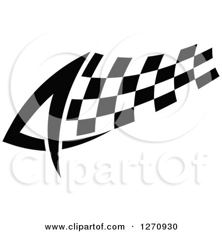 Clipart of a Black and White Tribal Checkered Racing Flag 2 - Royalty Free Vector Illustration by Vector Tradition SM