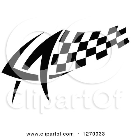 Clipart of a Black and White Tribal Checkered Racing Flag 5 - Royalty Free Vector Illustration by Vector Tradition SM