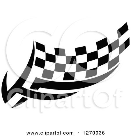 Clipart of a Black and White Tribal Checkered Racing Flag 8 - Royalty Free Vector Illustration by Vector Tradition SM
