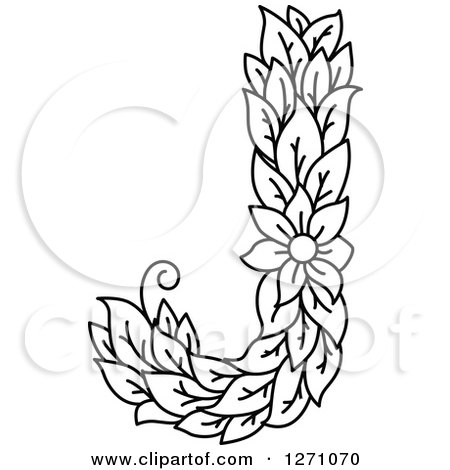 Clipart of a black and white floral capital letter j with a flower clipart of a black and white floral capital letter j with a flower royalty free vector illustration by vector tradition sm mightylinksfo Gallery