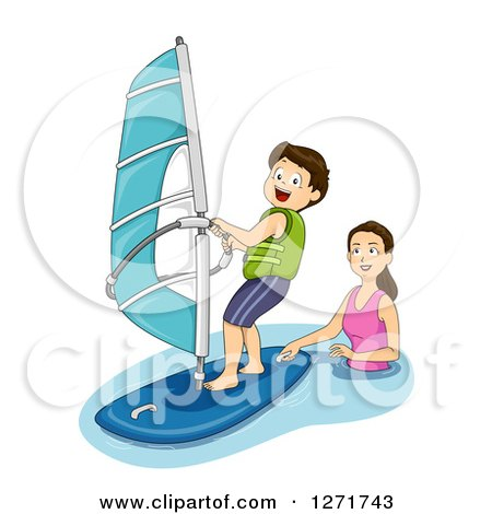 Royalty-Free (RF) Sailing Clipart, Illustrations, Vector Graphics #2