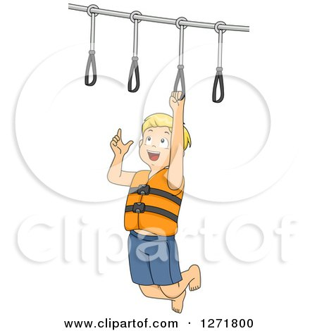 Blond White Boy on a Ring Obstacle Course Posters, Art Prints