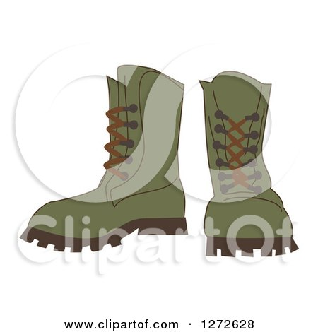 Pair of Green Hiking Boots Posters, Art Prints