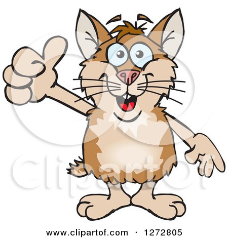 Clipart of a Happy Hamster Giving a Thumb up - Royalty Free Vector Illustration by Dennis Holmes Designs