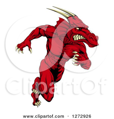 Royalty-Free (RF) Red Dragon Clipart, Illustrations, Vector ...