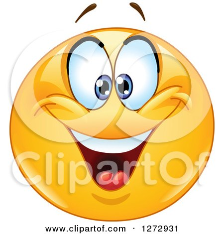 Clipart of a Crosse Eyed Smiley Emoticon - Royalty Free Vector Illustration by yayayoyo