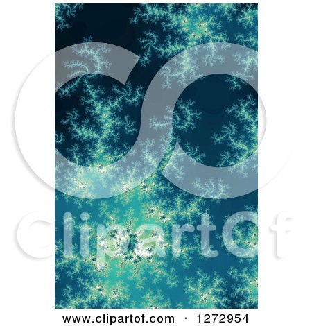Clipart of a Blue Fractal Spiral Background - Royalty Free Illustration by oboy