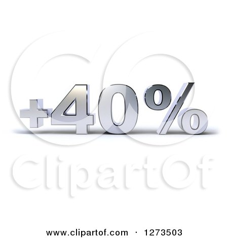 Clipart of a Chrome Plus 40 Percent Design - Royalty Free Illustration by Julos