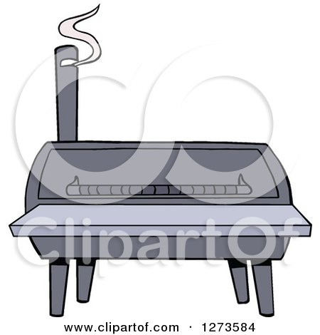 Clipart of a Bbq Smoker - Royalty Free Vector Illustration by LaffToon