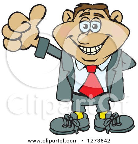 Clipart of a Happy Hispanic Businessman Giving a Thumb up - Royalty Free Vector Illustration by Dennis Holmes Designs