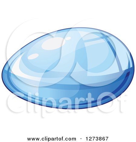 Clipart of a Blue Droplet of Water 6 - Royalty Free Vector Illustration by Vector Tradition SM